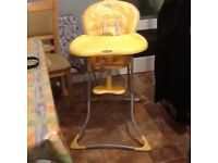 Yellow high chair