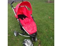 Buggy/Pushchair - Petite Star Bruin Xia with original footmuff +Rain Cover