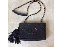 Chanel navy blue bag