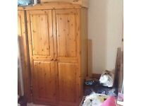 2 Pine Wardrobes, excellent condition