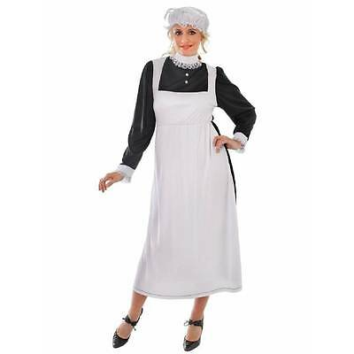 Adult Victorian Maid Downton Fancy Dress Women's Ladies Edwardian Costume 10-14