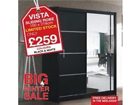 VISTA 150 SLIDING ROBE - HUGE WINTER SALE ON ALL WARDROBES !!! FAST AND FREE DELIVERY !!