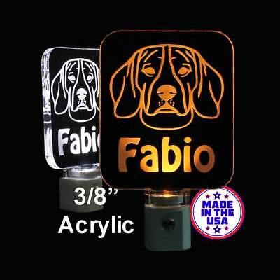 Personalized Beagle LED Night Light *Design your own Puppy Light - Dog light