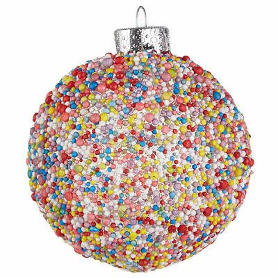 SPRINKLE BALL Colorful Plastic Christmas Ornament, 3
