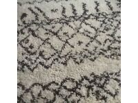 """Cream and brown patterned thick pile rug, as new 68""""""""47"""""""