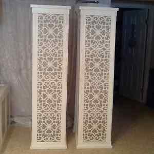 set of 2 ~~~~7 Foot lite Columns