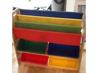 Playroom book case and storage unit