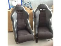 Porsche 912 SWB bucket seats and harnesses