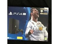 PS4 Pro 1TB with downloadable FIFA 18.