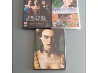 Three brand new DVD's for sale