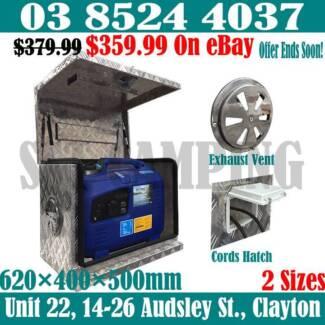 Ventilated Aluminium Generator Toolbox 620x400x500 Vent & Hatch