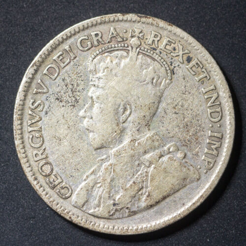 CANADA 25¢ Cents 1932 - Silver - George V. - F