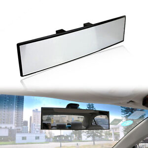 extra large big car interior rear view mirror wide clip on over sized 300mm. Black Bedroom Furniture Sets. Home Design Ideas