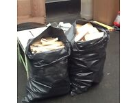 Large bags of kindling or logs