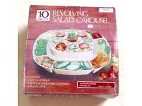 Vintage 10 Piece Revolving Salad Bar Carousel in box £3