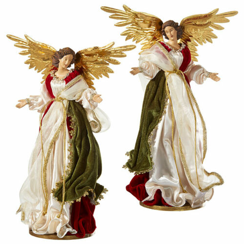 """RAZ Imports Large 18"""" Angels Set/2 Beautiful Elegant Christmas NEW! Nativity"""