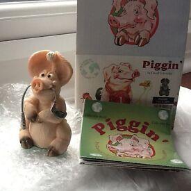 1997 BOXED PIGGIN TEE'D OFF GOLF PIG DAVID CORBRIDGE COLLECTABLE FIGURE - MINT