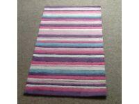 Pastel striped acrylic rug