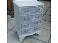 Upcycled Shabby Chic Serpentine Chest of Drawers