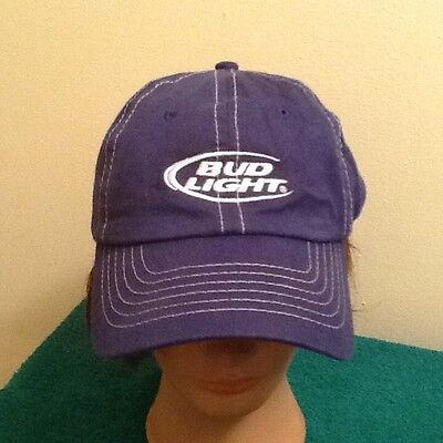 Anheuser Busch Official Bud Light Beer Embroidered, Adjustable, Baseball Hat Cap