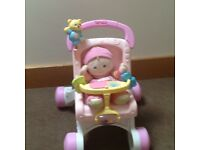 Push along fisherprice stroller/walker