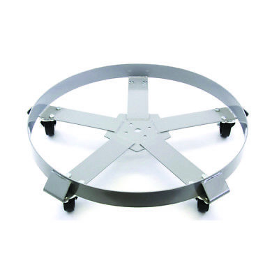 Drum Dolly 55 Gallon 5 Wheel Swivel Casters Heavy Steel Frame Easy Roll 1250 Lbs