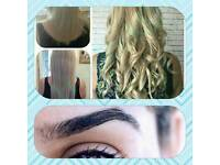 Hair extensions mobile appointments available from every Friday