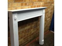 Fire surround with back & hearth