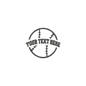 Baseball-YOUR-TEXT-Vinyl-Decal-Sticker-High-School-support-fund-raiser