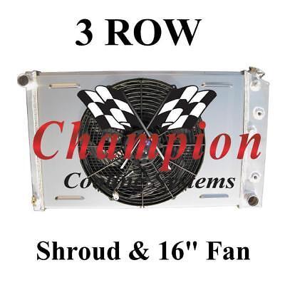 1977-1981 Buick Century 3 Row Champion Radiator With Shroud And 16