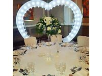 8ft love heart & MR & MRS LED sign - wedding party engagement