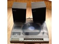 Retro Stereo Record Player