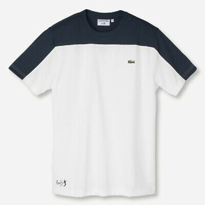 NWT MEN'S LACOSTE SPORTS ANDY RODDICK SS TENNIS CREW (WHT/NAVY) TH0011. $60