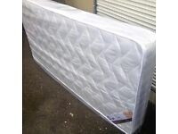 New 3ft single or 4ft6 double sprung mattress free delivery