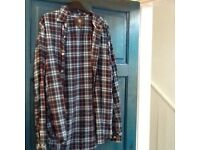 Designer men's shirts,Ted Baker and Timberland,worn once+SuperDry polo shirt,sizeLonlyonly£8 the 3