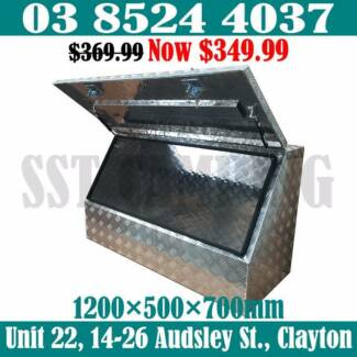 Aluminium Half Side Open Ute Truck Trailer Toolbox 1200x500x700