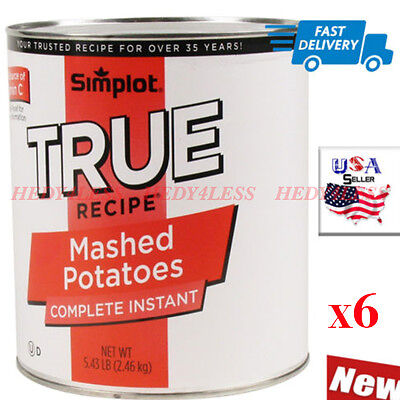 True Recipe Instant Mashed Potatoes 6 - #10 Cans / Case   FAST Shipping