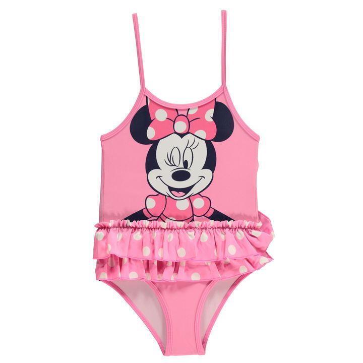Disney Baby Minnie Mouse Mädchen Badeanzug, Tütü Bademode Gr. 56-92 Neu