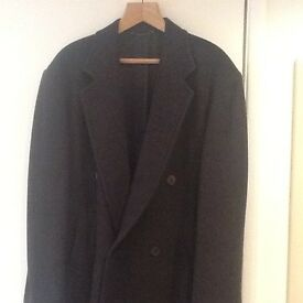Men's Double Breasted wool overcoat