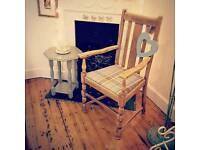 Beautiful vintage carver armchair