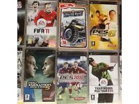 Psp slim & lite with 10 games & charger + case