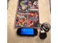 Slim&lite Psp with 10 games and charger