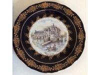LIMOGES CASTEL decorative plate. Boxed.