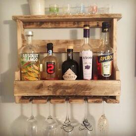 Handmade Bottle & Glass Rack
