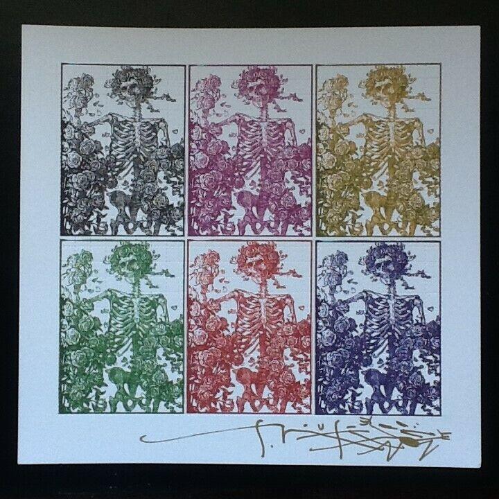 BLOTTER ART SIGNED By Stanley Mouse ORIGINAL Grateful Dead 6 Panel Big Bertha