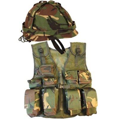 Welttag des Buches Jungen Armee Soldaten Kostüm Assault Weste & Helm Dpm Camo