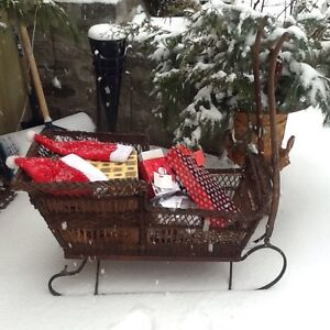Gorgeous Wicker Dog Sled - Vintage One of a Kind