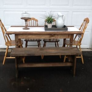 FARMSTYLE DINING SET WITH BENCH  SOLD