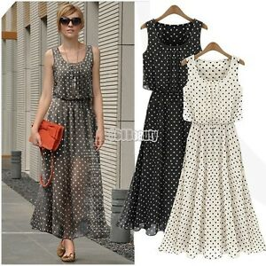 NEW-LADIES-WOMENS-SUMMER-LONG-MAXI-DRESS-SKIRT-SIZE-4-18-CHIFFON-EVENING-PARTY