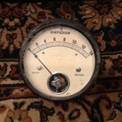 Hoyt Meter Amperes 250 Vintage Working